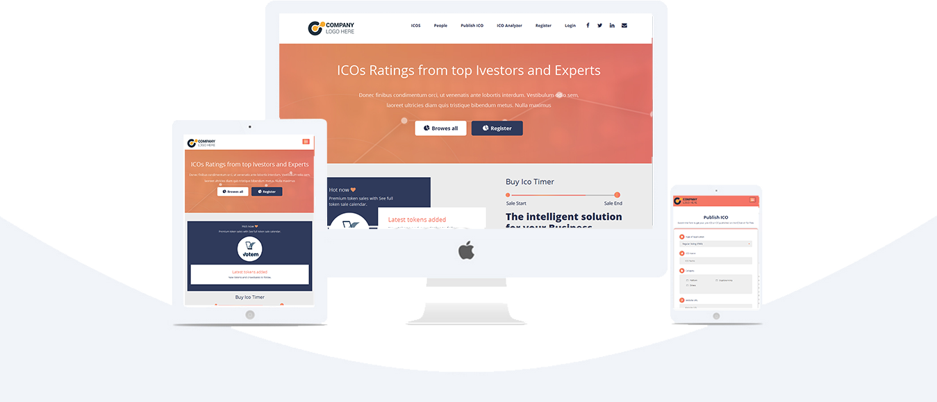 Cryptocurrency ICO Listing Script | Airdrop | Bounty | ICO